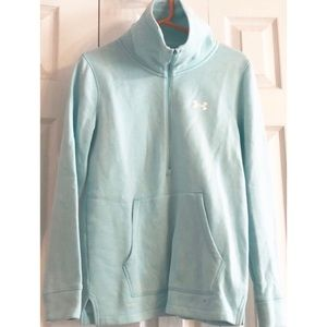 Under Armour Pale Mint Half zip w collar W Small